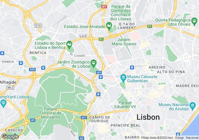Map for São Domingos de Benfica, Lisboa, Lisboa