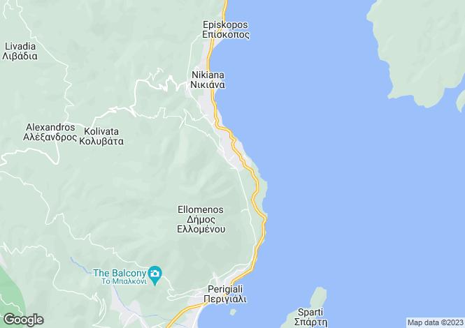 Map for Lefkada, Ionian Islands, Greece