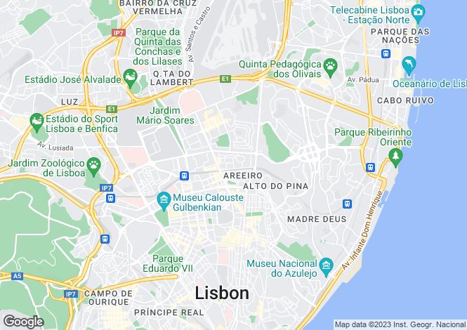 Map for Arroios, Lisboa, Lisboa