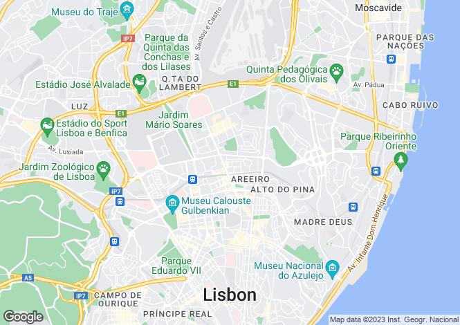 Map for Alvalade, Lisboa, Lisboa