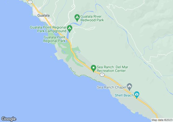 Map for California, Sonoma County, The Sea Ranch