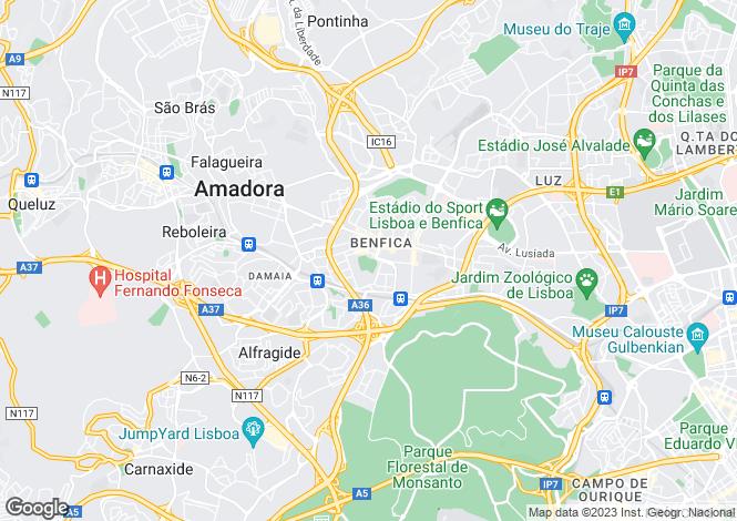 Map for Benfica, Lisboa, Lisboa