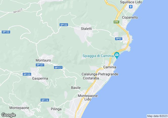 Map for Calabria, Catanzaro, Staletti