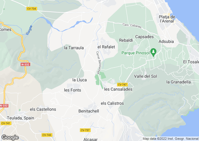 Map for Benitachell