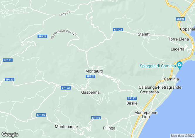 Map for Montauro, Catanzaro, Calabria