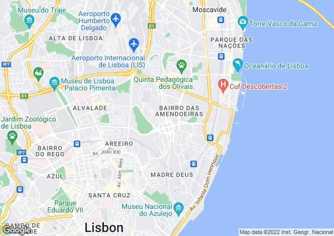 Map for Marvila, Lisboa, Lisboa
