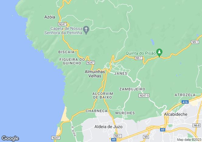 Map for Guincho, Cascais, Portugal, 2755-669