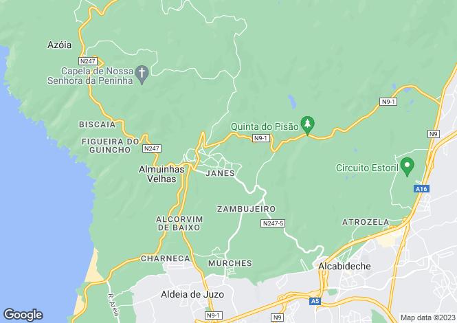 Map for Malveira da Serra, Lisboa, Portugal