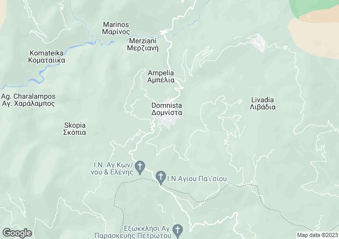 Map for Sterea Ellas, Evrytania, Domnitsa