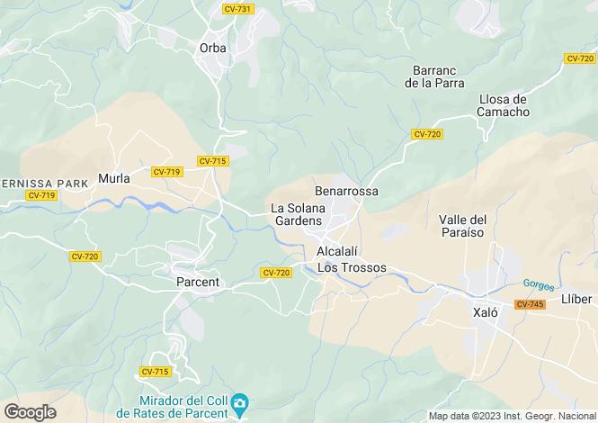 Map for Alcalali, Valencia, 03724, Spain