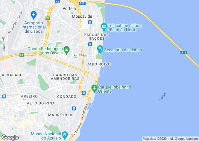 Map for Parque das Nações, Lisboa, Lisboa
