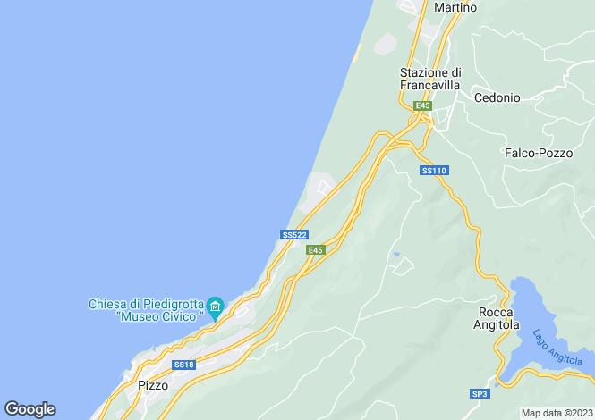 Map for Calabria, Vibo Valentia, Pizzo