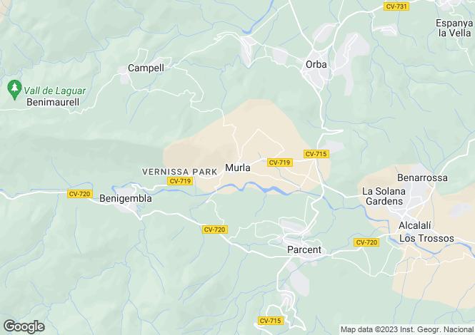 Map for Murla, Spain