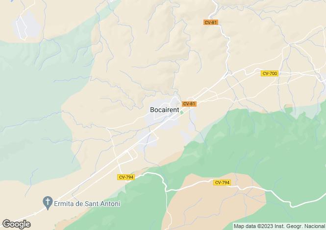Map for Bocairent, Alicante, 46880, Spain