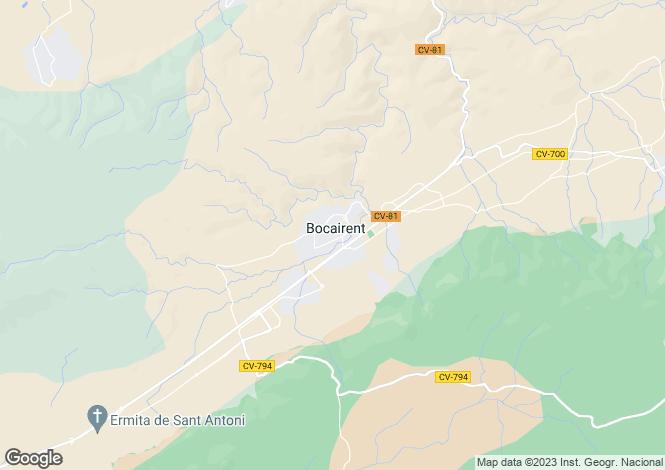 Map for BocaIrent, Spain