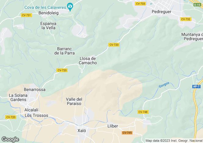 Map for Llosa de Camacho, Alicante, Valencia