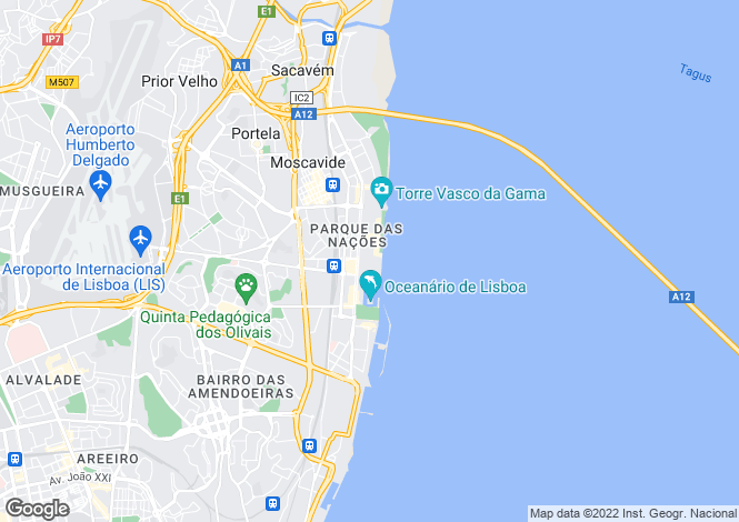 Map for Lisbon, Portugal