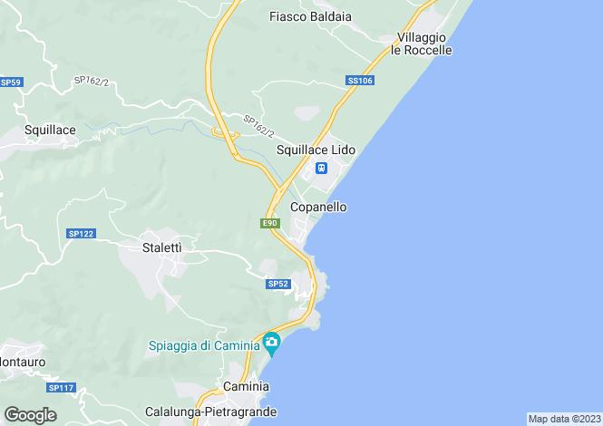 Map for Calabria, Catanzaro, Copanello