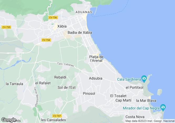Map for Jávea, Alicante, Costa Blanca