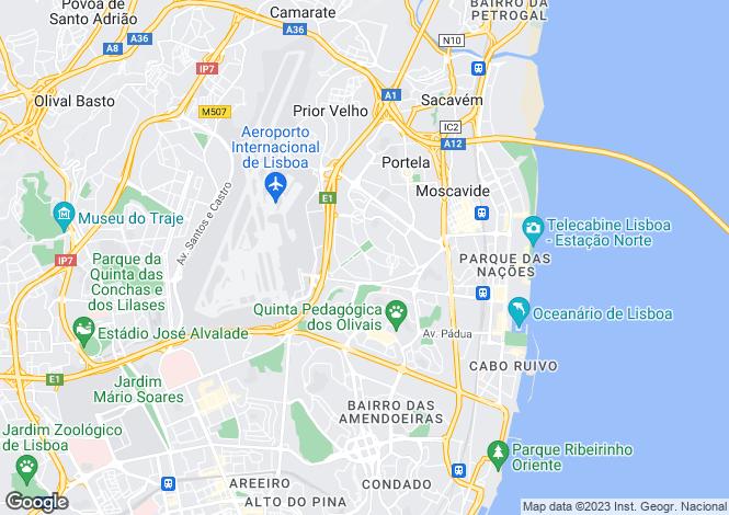 Map for Olivais, Lisboa, Lisboa