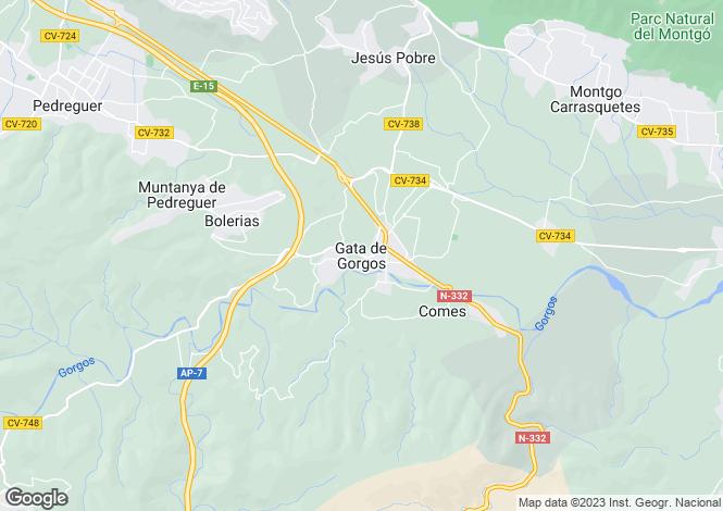 Map for Gata De Gorgos, Spain