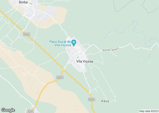 Map for Vila Viçosa, Alto Alentejo