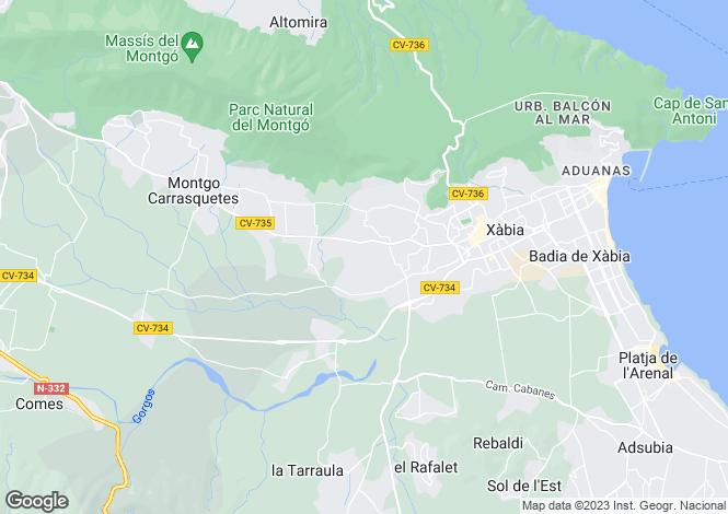 Map for Javea/xabia, Spain