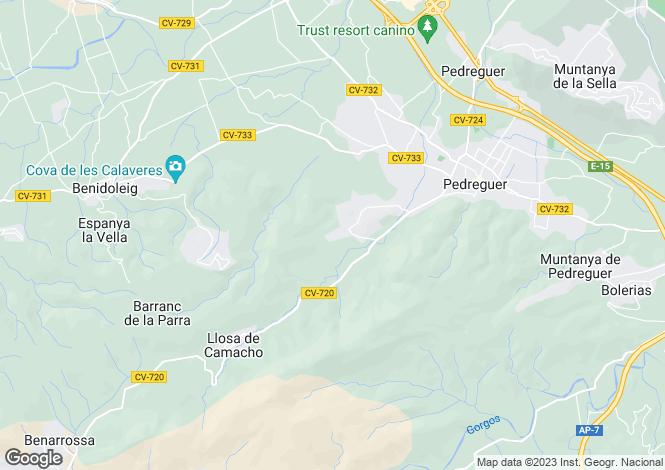 Map for Pedreguer, Spain
