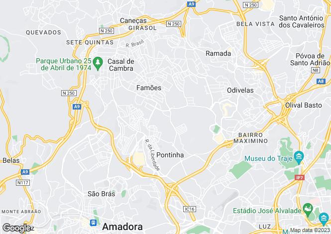 Map for Pontinha e Famões, Odivelas, Lisboa
