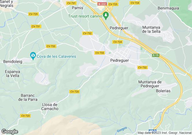 Map for Pedreguer, Valencia