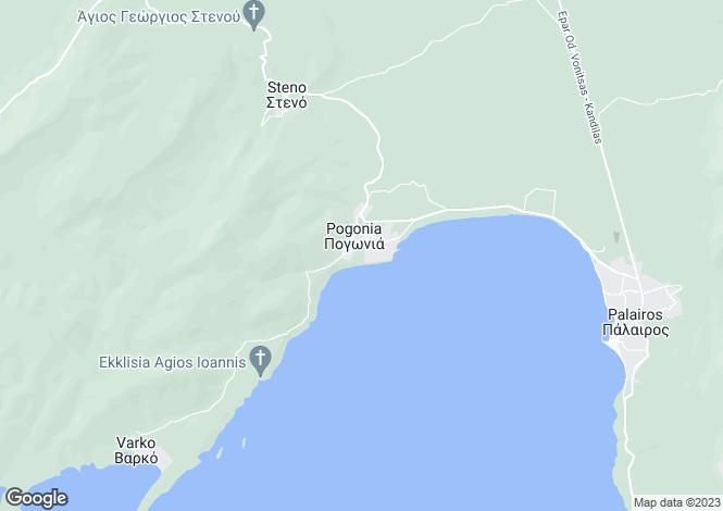 Map for Pogonia, Aetolia-Acarnania, Western Greece