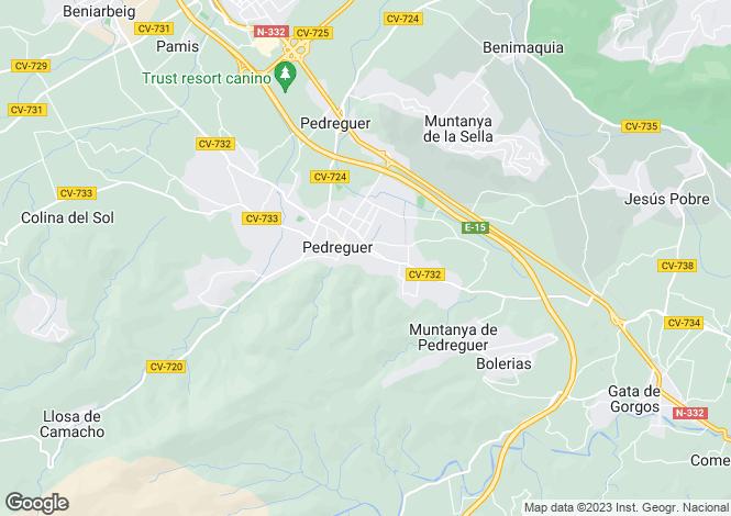 Map for Pedreguer