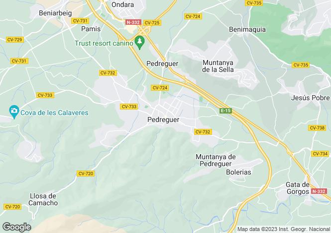 Map for Denia, Valencia, 03724, Spain