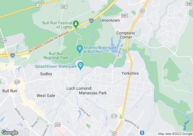 Map for USA - Virginia, Manassas City, Manassas