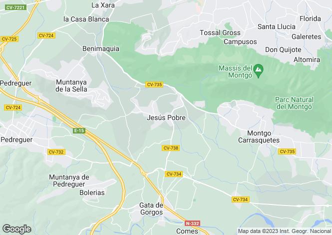 Map for Jesus Pobre, Spain