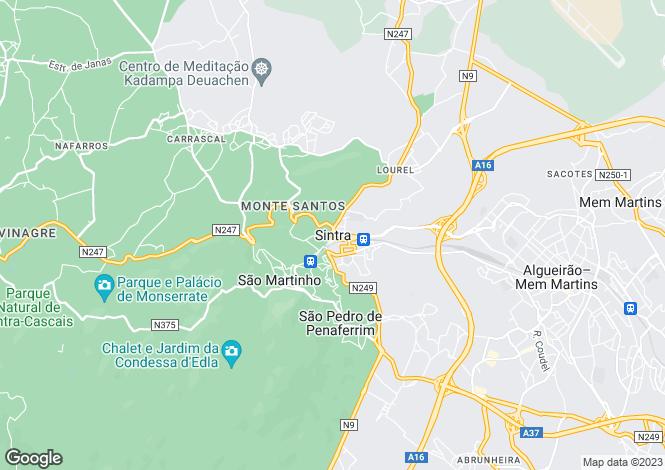 Map for S.Maria e S.Miguel, S.Martinho, S.Pedro Penaferrim, Sintra, Lisboa
