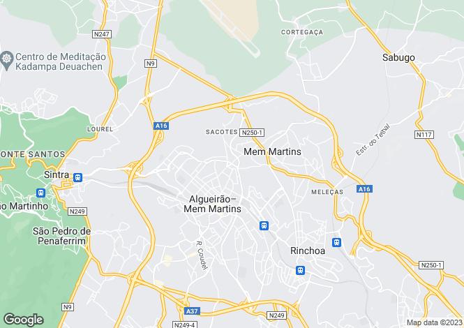 Map for Portugal,Lisboa,Algueirão-Mem Martins