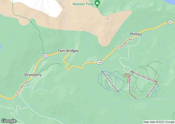 Map for California, El Dorado County, Twin Bridges
