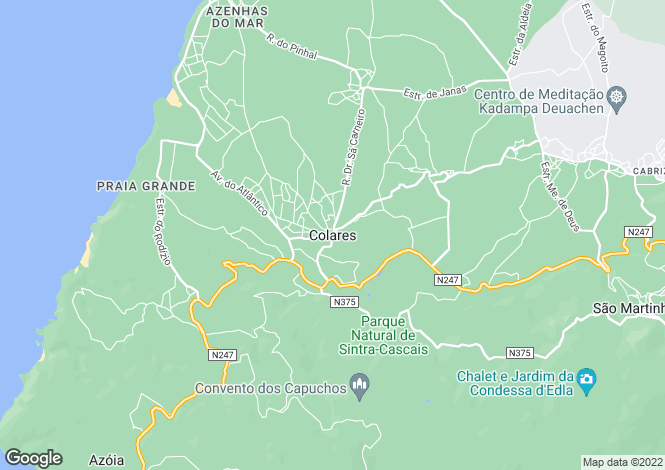 Map for Colares, Sintra, Lisboa