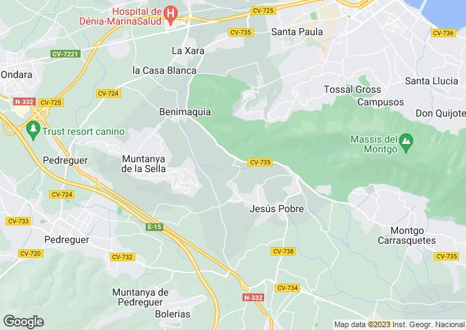 Map for La Sella, Alicante, Spain