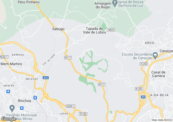 Map for Sintra, Lisboa, Portugal