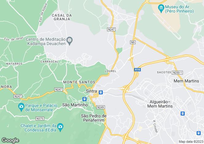 Map for Lisbon, Sintra