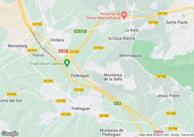 Map for Valencia, Alicante, La sella denia