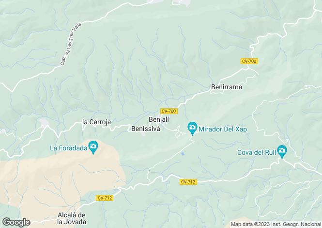 Map for Beniali, Spain