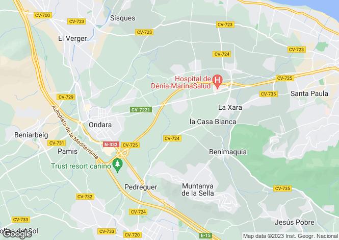 Map for Ondara