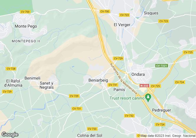 Map for Beniarbeig