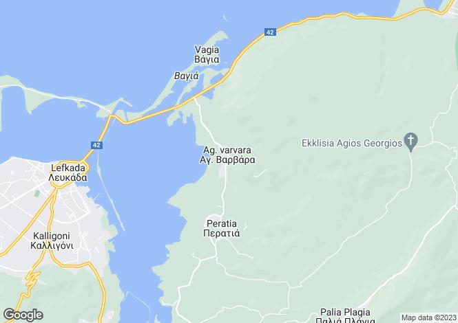 Map for Lefkada, Lefkada, Ionian Islands