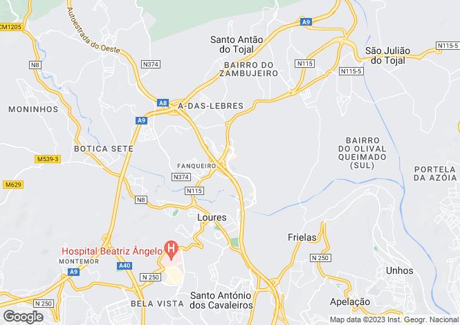Map for Portugal,Lisboa,Loures