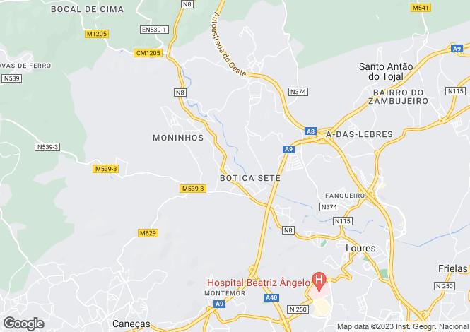 Map for Lisbon, Loures
