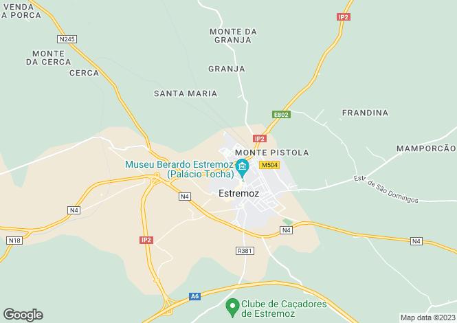 Map for Estremoz, Alto Alentejo